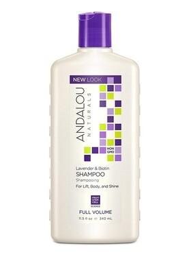 Andalou Naturals Lavender & Biotin Full Volume Hair Shampoo, 11.5 Ounce