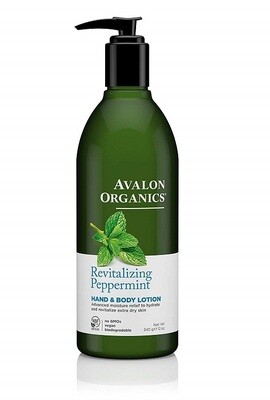 Avalon Organics Revitalizing Peppermint Hand and Body Lotion, 12 Ounce