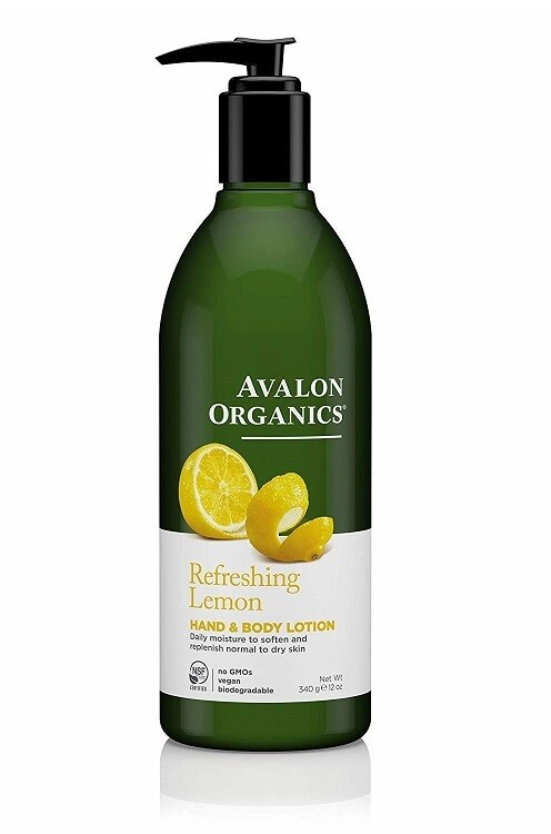 Avalon Organics Refreshing Lemon Hand and Body Lotion, 12 Ounce