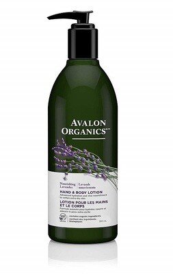 Avalon Organics Nourishing Lavender Hand and Body Lotion, 12 Ounce