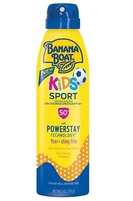 Banana Boat Kids Sport Tear Free Sunscreen Spray, SPF 50, 6 Ounce