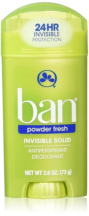 Ban Deodorant Invisible Solid Powder, Fresh, 2.6 Ounce