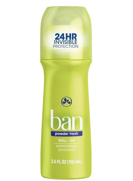 Ban RollOn Antiperspirant Deodorant, Powder Fresh, 3.5 Ounce
