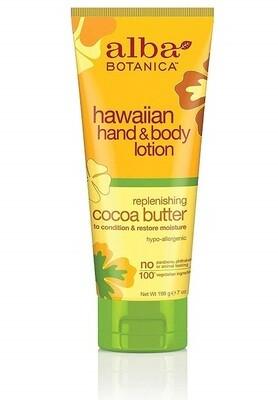 Alba Botanica Replenishing Cocoa Butter Hawaiian Hand and Body Lotion, 7 Ounce