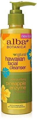 Alba Botanica Hawaiian Enzyme Face Cleanser, Pineapple, 8 Ounce
