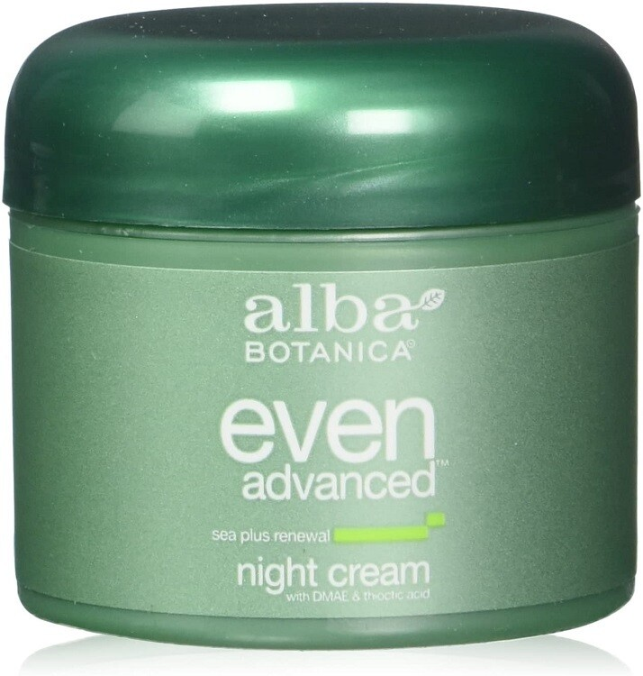 Alba Botanica Natural Even Advanced Sea Plus Renewal Night Cream, 2 fl Ounce