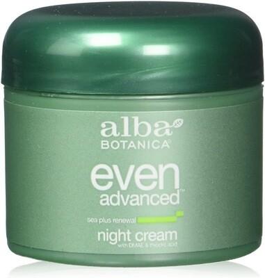 Alba Botanica Natural Even Advanced Sea Plus Renewal Night Cream, 2 fl Ounce