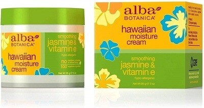 Alba Botanica Smoothing Jasmine and Vitamin E Hawaiian Moisture Cream, 3 Ounce