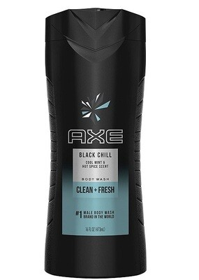 Axe Body Wash for Men, Black Chill, 16 fl Ounce