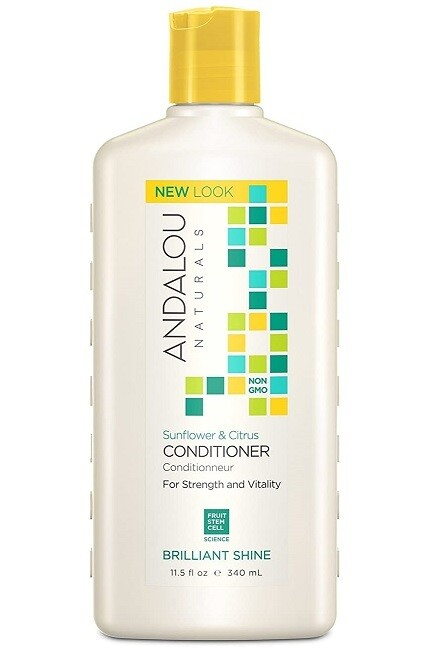 Andalou Naturals Sunflower and Citrus Brilliant Shine Hair Conditioner, 11.5 Ounce