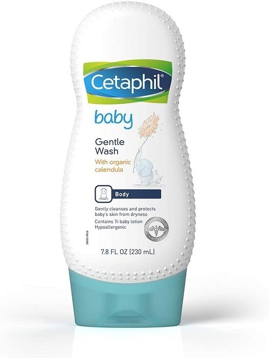 Cetaphil Baby Gentle Wash with Organic Calendula, 7.8 Ounce