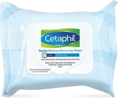 Cetaphil Gentle Makeup Removing Wipes, 25 Count