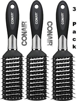 Conair Velvet Touch Vent Hair Brush, 1 Count, Pack of 3