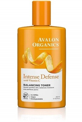 Avalon Organics Intense Defense Balancing Toner, 8.5 fl Ounce