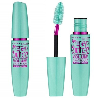 Maybelline New York Volume Express Mega Plush Waterproof Mascara, Very Black, 0.3 fl Ounce