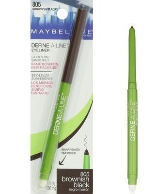 Maybelline New York Define-A-Line Eyeliner, Brownish Black, 0.01 fl Ounce