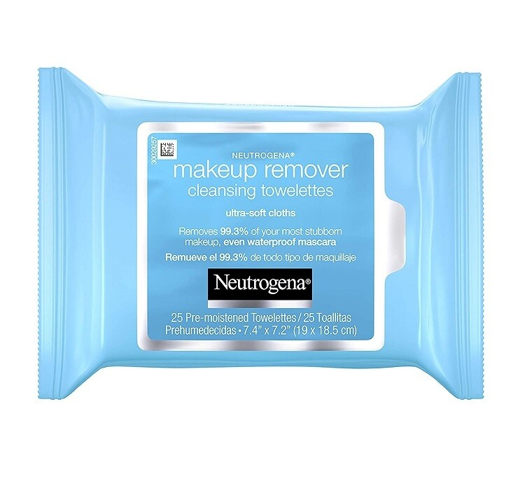 Neutrogena Makeup Remover Facial Cleansing Towelettes, 25 Count