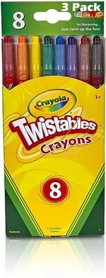 Crayola Twistables Crayons, 8 crayons/pack, Pack of 3