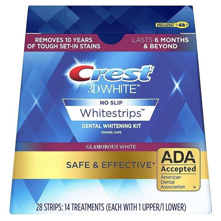 Crest 3D White Whitestrips Teeth Whitening Kit, Glamorous White, 14 Treatments, (Packaging May Vary)
