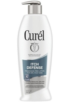 Curel Itch Defense Calming Body Lotion for Dry, Itchy Skin, 13 fl Ounce
