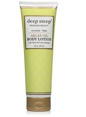 Deep Steep Argan Oil Body Lotion, Coconut Lime, 8 fl Ounce