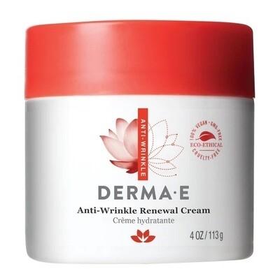 DERMA E Anti-Wrinkle Renewal Cream with Vitamin A, 4 Ounce