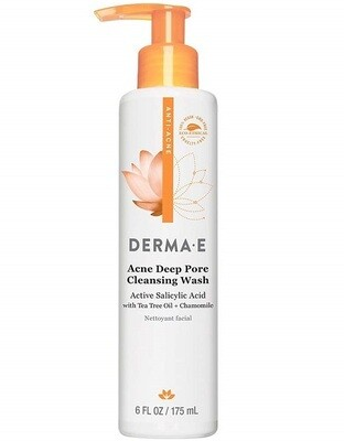 Derma E Acne Deep Pore Cleansing Wash with Salicylic Acid, 6 Ounce