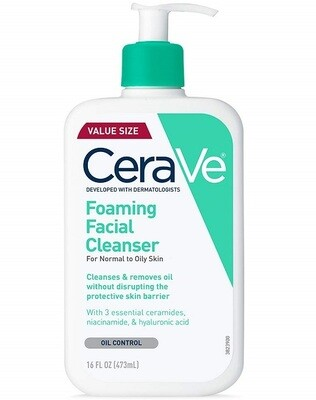 Cerave Foaming Facial Cleanser, 16 fl Ounce