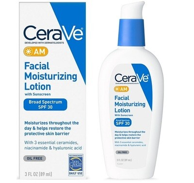 Cerave Facial Moisturizing Lotion AM, SPF 30, 3 Ounce