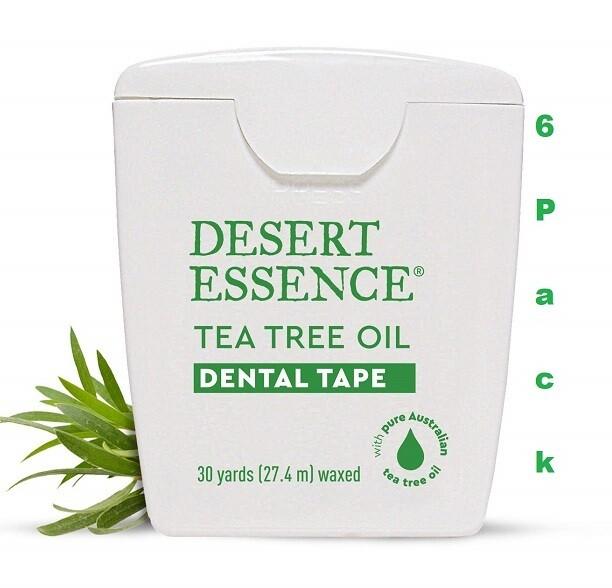 Desert Essence Tea Tree Oil Dental Tape, 30 Yards, Pack of 6