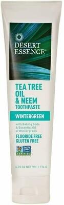 Desert Essence Tea Tree Oil & Neem Toothpaste, 6.25 Ounce