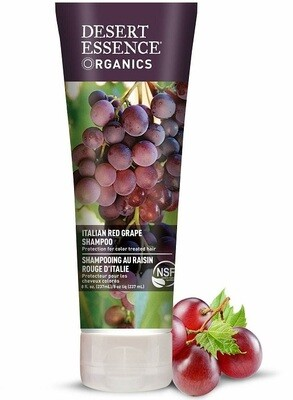 Desert Essence Organics Italian Red Grape Hair Shampoo, 8 fl Ounce