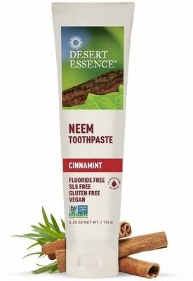 Desert Essence Natural Neem Toothpaste, Cinnamint, 6.25 Ounce