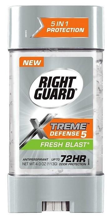 Right Guard Xtreme Gel Defense 5 Antiperspirant, Fresh Blast, 4 Ounce