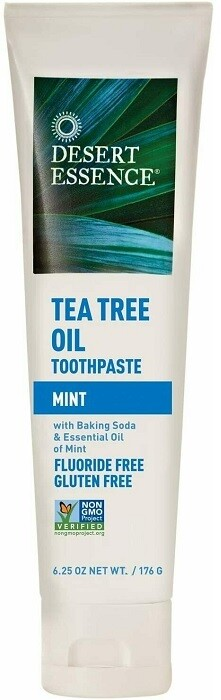 Desert Essence Tea Tree Oil Toothpaste, Mint, 6.25 Ounce