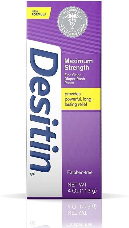 Desitin Maximum Strength Baby Diaper Rash Cream, 4 Ounce