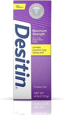 Desitin Maximum Strength Baby Diaper Rash Cream, 4 Ounce