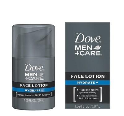 Dove Men Care Face Lotion, Hydrate Plus 1.69 Ounce