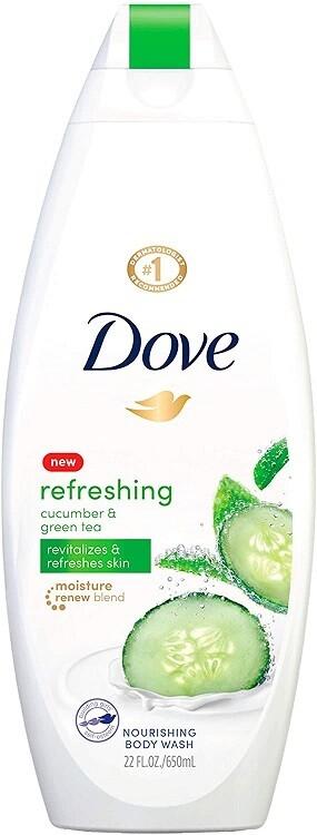 Dove Refreshing Cucumber and Green Tea Nourishing Body Wash, 22 fl Ounce