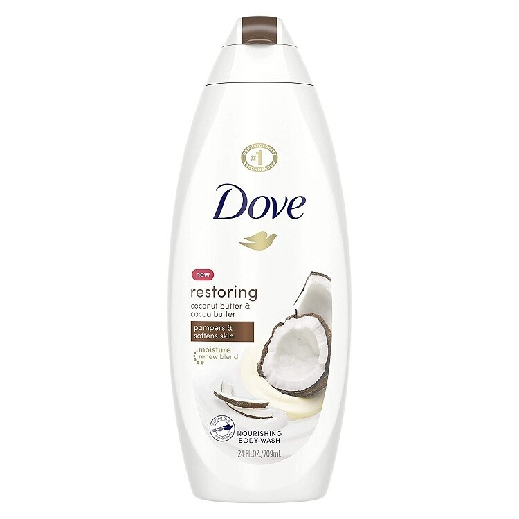 Dove Restoring Coconut Butter and Cocoa Butter Nourishing Body Wash, 22 fl Ounce
