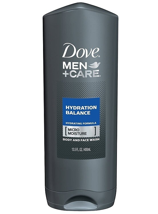 Dove Men Care Body and Face Wash, Hydration Balance, 13.5 fl Ounce