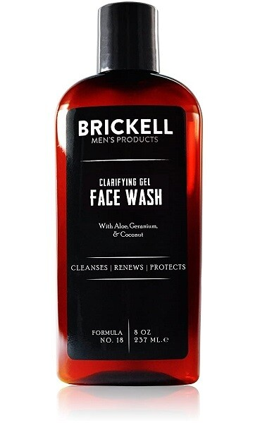 Brickell Mens Clarifying Gel Face Wash for Men, 8 Ounce