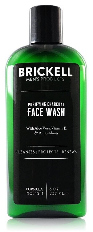 Brickell Mens Purifying Charcoal Face Wash for Men, 8 Ounce