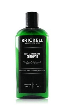 Brickell Men's Products Daily Strengthening Hair Shampoo for Men, 8 Ounce