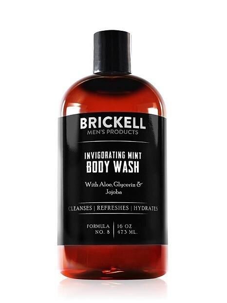 Brickell Men's Invigorating Mint Body Wash for Men, 16 Ounce