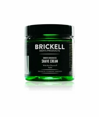 Brickell Men's Smooth Brushless Shave Cream for Men, 5 Ounce