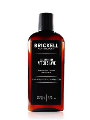 Brickell Men's Instant Relief Aftershave for Men, 4 Ounce