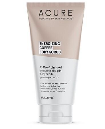 Acure Energizing Coffee Body Scrub, 6 fl Ounce
