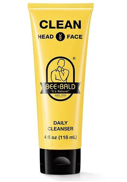 Bee Bald Clean Head and Face Daily Cleanser, 4 fl Ounce