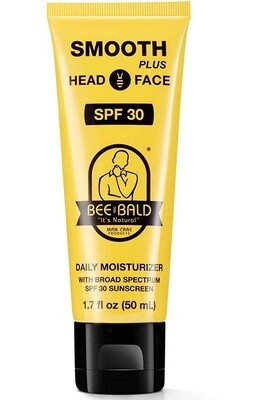 Bee Bald Smooth Plus Daily Moisturizer with Spf 30 Sunscreen, 1.7 fl Ounce